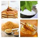 sirop, stevia, cane sugar and honey