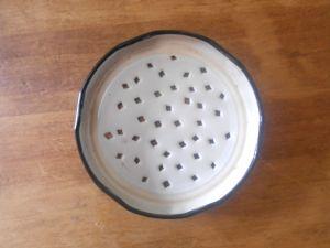 Homemade germination jar lid.